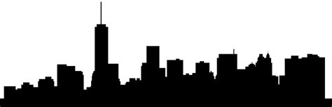 New York Skyline Silhouette  Free Vector Silhouettes