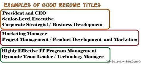 titles for resumes that stands out resume tips