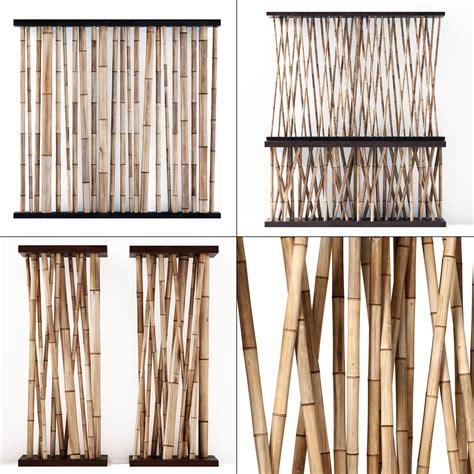 3d bamboo decor wall cafe cgtrader