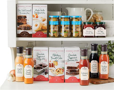stonewall kitchen launches    products nosh