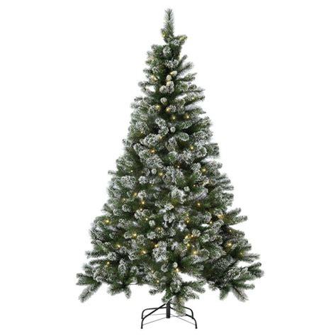 prelit snow tipped christmas tree 7ft christmas trees