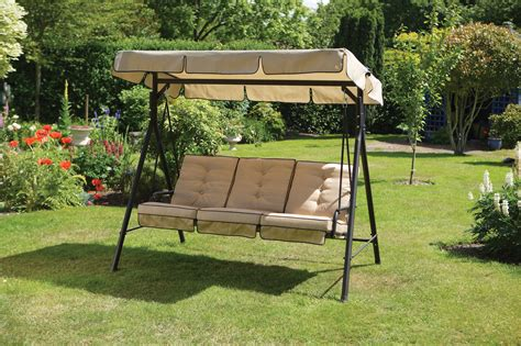 canapé swing luxury 3 seater garden swing seat hammock with