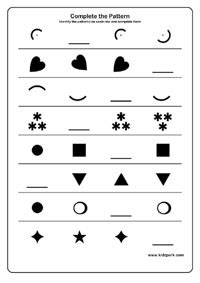 grade  shape pattern worksheet maths downloadable