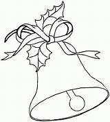 Bell Bells Coloring Christmas Pages Jingle Printable Drawing Drawings Printables Templates Taco Para Colorear Popular Dibujos Colors Coloringhome Printing sketch template