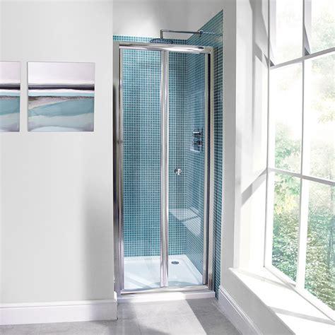 aquafloe mm  bi fold shower door
