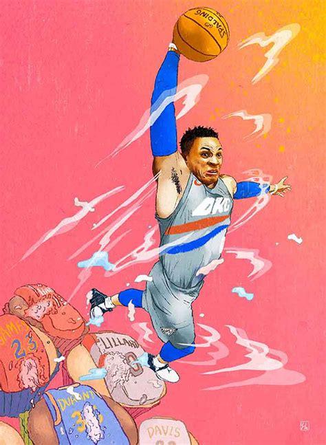 Russell Westbrook Nba Art On Scad Portfolios