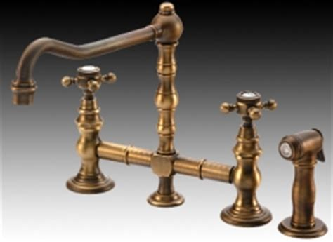Unlacquered Brass Bridge Faucet by Kitchen Faucets Product Review Bridging The Past From
