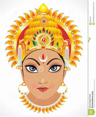 Durga Face Goddess Abstract Maa Clipart Clip