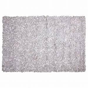 tapis shaggy cuir blanc et gris 160x230 With tapis shaggy avec canape longueur 300 cm
