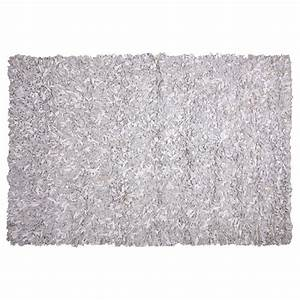 tapis shaggy cuir blanc et gris 160x230 With tapis shaggy avec canapé cuir strasbourg