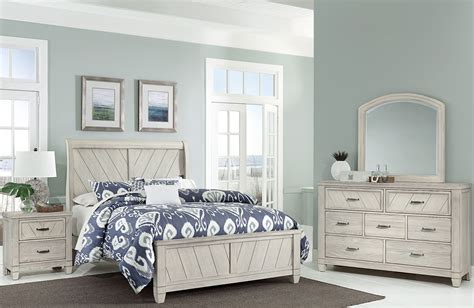 rustic bedroom furniture rustic cottage rustic white sleigh bedroom set from White