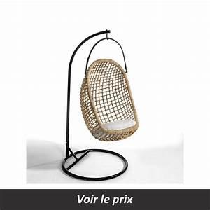 Pied Pour Fauteuil Suspendu : fauteuil suspendu en rotin quel mod le pour se d tendre la maison ~ Teatrodelosmanantiales.com Idées de Décoration