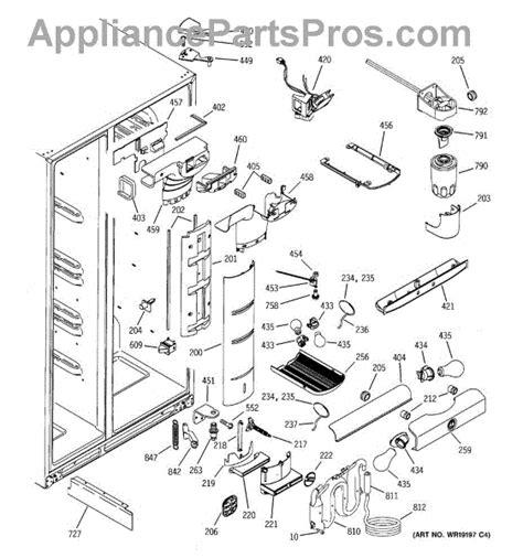 ge wrx fresh food lever assembly appliancepartsproscom