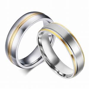 aliexpresscom buy gold plated titanium rings 316l With stainless steel wedding rings for men