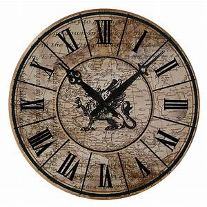 15quot large vintage design wall clock shabby chic rustic for Old vintage wall clocks