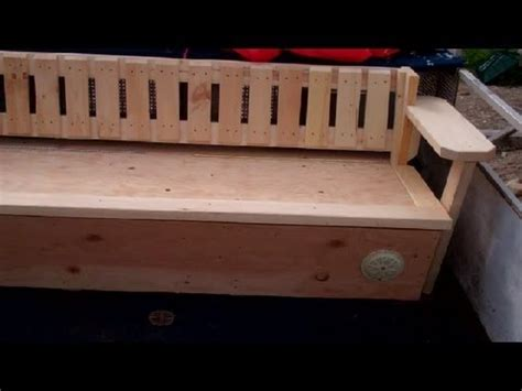 how to build a bench seat with storage barge seats