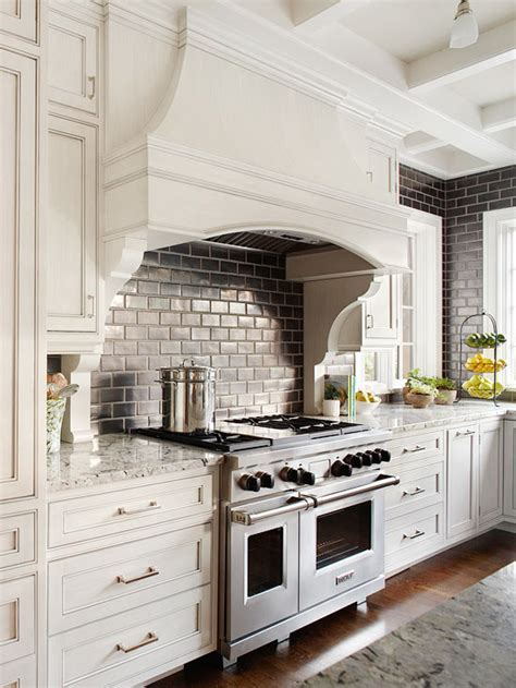 Black Subway Tile   Transitional   kitchen   BHG