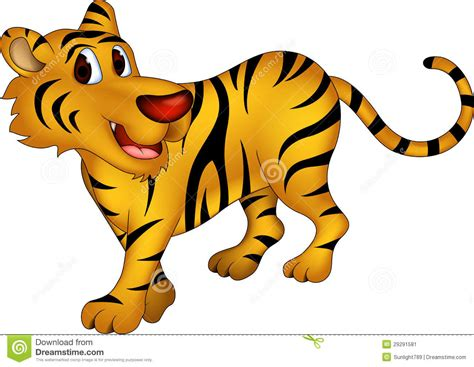 Desenhos Animados Bonitos Do Tigre Imagem De Stock