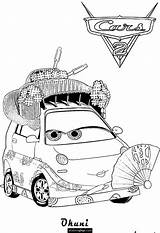 Coloring Cars Okuni Printable Torque Disney Pages Jeff Corvette Hit Ecoloringpage 06kb 954px Coloriages Template Sketch sketch template