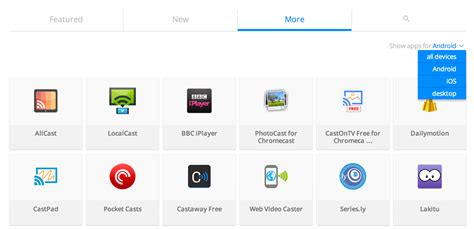 chromecast apps android descubre todas las apps para chromecast clasificadas en su