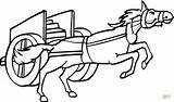 Coloring Horse Pulling Chariot Cart Pages Drawing Clipart Horses Printable Charriot Drawings Takes Stuff Desenho Cavalo Animal sketch template