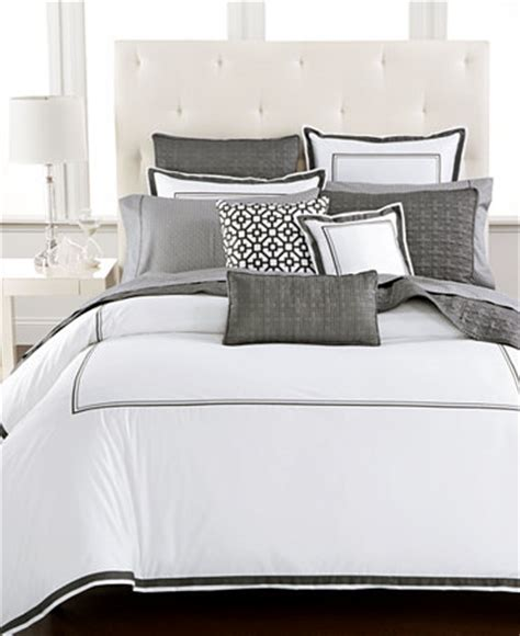 hotel collection embroidered frame bedding collection