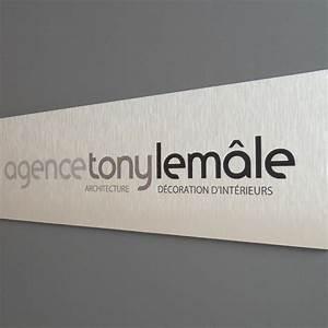 Plaque Alu Brossé : plaque professionnelle en aluminium bross creativ 39 sign ~ Edinachiropracticcenter.com Idées de Décoration