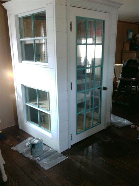 hometalk diy cabinet pantry from doors and windoors