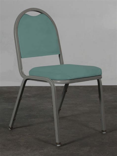 falcon used stacking side chair mint green national