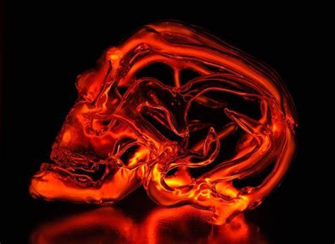 scary neon skull lights randommization