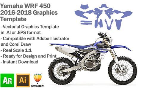 yamaha wrf 450 enduro 2016 2017 2018 graphics template artabrian motocross mx graphic templates