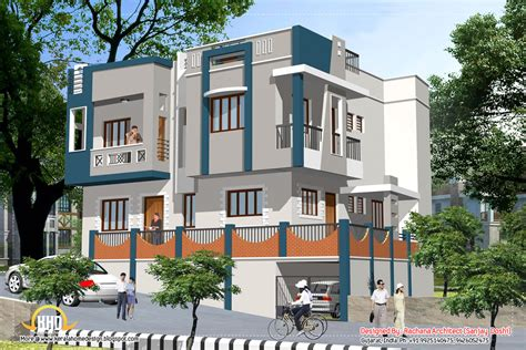 Indian home design with house plan - 2435 Sq.Ft.