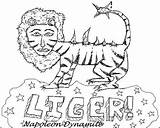 Dynamite Napoleon Liger Drawing Coloring Tiger Template Ligers Drawings Zine Beat Issue Humorous While November Sketch Paintingvalley Probably Forgot Were sketch template