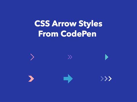 css arrows  codepen freebie supply