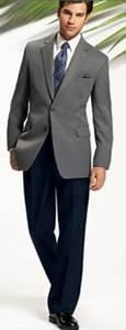 Mens Light Blue Sport Coat Light Gray 2 Btton Jacket Navy Blue Colored Pants