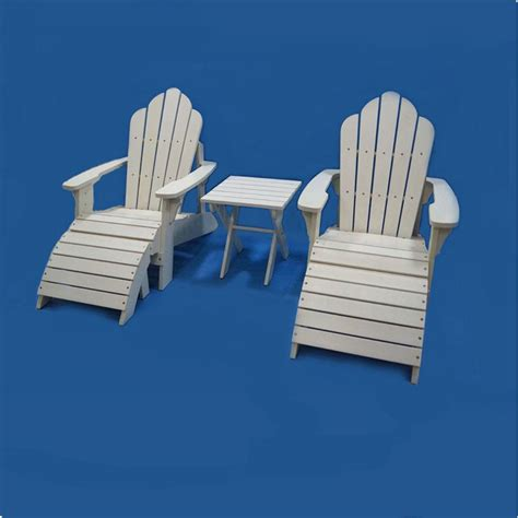 waterproof wood plastic composite adirondack chair white