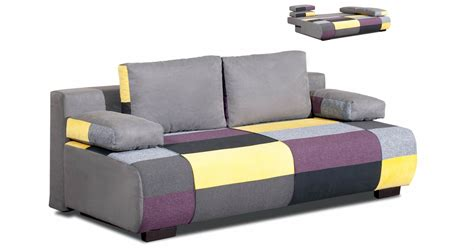canapé convertible 3 places tissu deco in canape 3 places convertible en tissu jaune