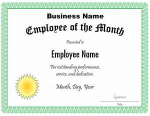 employee of the month certificate template customize the With manager of the month certificate template