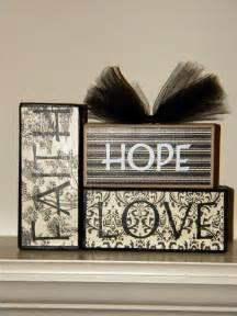 Faith Hope and Love Wooden Blocks