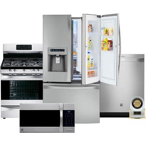 Kenmore Elite 4 Pc Kitchen Combo  Kitchen Appliance Sets