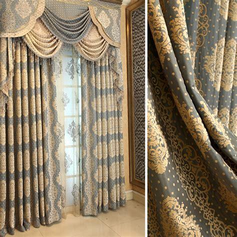 privacy retro curtains drapes of jacquard patterns