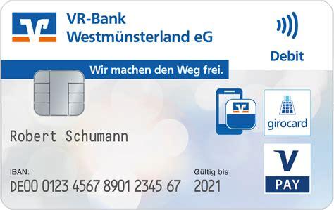 bankkarte girocard  pay vr bank westmuensterland
