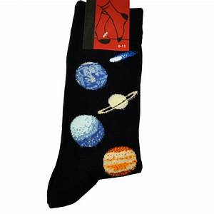 Solar System Blue Planets Men's Novelty Socks from Ties ...