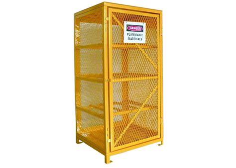 industrial wire mesh propane tank storage cabinet oxygen acetylene storage cages