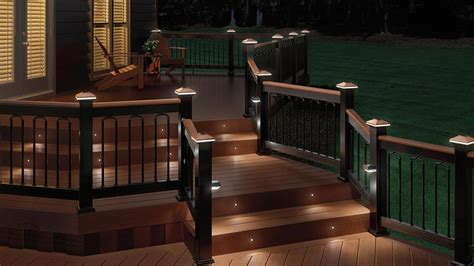 Home Depot Deck Rail Lighting by Deck Lighting Solar Post Caps Recessed Lights Hhdepot