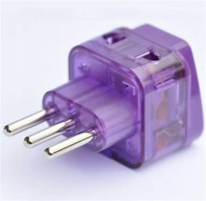 Power Travel Adapter Plug For Italy Chile Uruguay  Type L