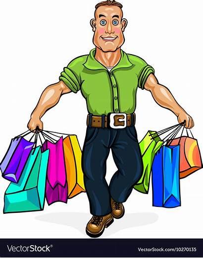 Carrying Shopping Bags Vector Vectorstock Royalty