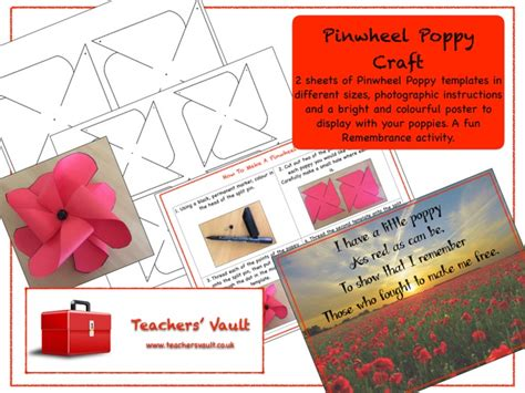 crafts and activities pinwheel poppy craft by helenrachelcrossley teaching 8129