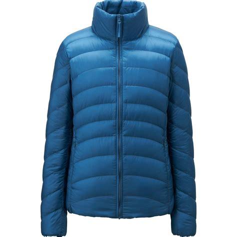 ultra light down jacket uniqlo women ultra light down jacket in blue lyst