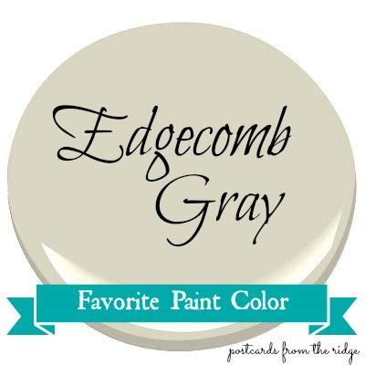 favorite paint color benjamin edgecomb gray